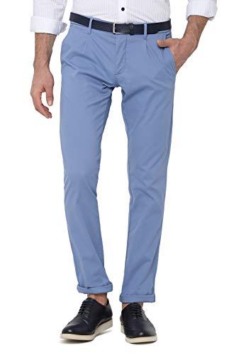 Allen Solly Men's Slim Fit Casual Trousers (ASTPWSRFZ36694_Blue_34W x 34L)