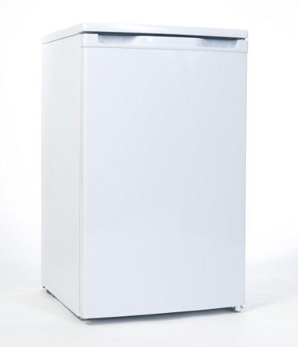 Comfee Tischkühlschrank KGF 8551 / A++ / 84 L Kühlteil / 14 L Gefrierteil / Obst- und Gemüseschublade / Türfach für 2 Liter Flaschen / weiß