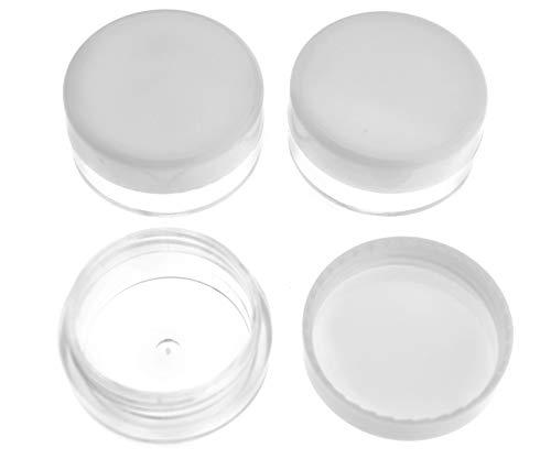100 pezzi 3 ML campione di plastica trasparente vasetti barattoli vuoti con coperchio campioni trasparenti contenitore di plastica per cosmetici crema balsamo labbro lozione