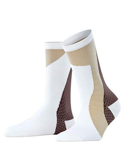 FALKE Damen Grafic Jam Socken, weiss (white 2000), 35-38