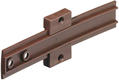 Gedotec H10407 Sleepscharnier voor koelkasten, voor inbouwkoelkast achter meubeldeuren, kunststof bruin, meubelscharnier met schroeven, 1 stuks