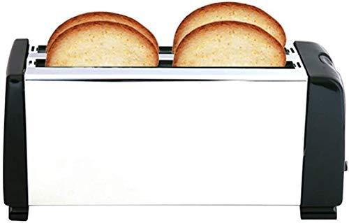XinMeiMaoYi Tostadora electrónica de 4 rebanadas Sandwich Toastie Machine 6 Brownings Variables 1300W Heladera
