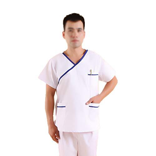 Unisex Medizinische Uniformen Medizinisches Peelingset Zahnarzt Medical Set Damen Kurzarm Spa Kosmetikerin Uniformen für Dental,Tierarzt,Chirurgisch,Krankenhäuser,Womenm