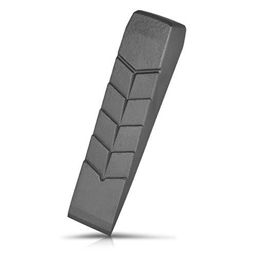 Navaris Aluminium Spaltkeil 800g - 22,5x5,5x4,5cm - gerade Keilform - Holz Spaltkeil für z. B. Kaminholz - Alu Massivkeil Holzspaltkeil - Fällkeil