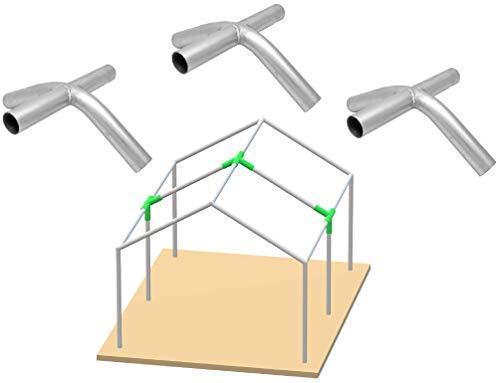 GoodsZone Canopy Fittings 1 3/8' High Peak 4 Way Connectors Coupler Kit, 3/Pack, Choose Size (High Peak 4-Way)