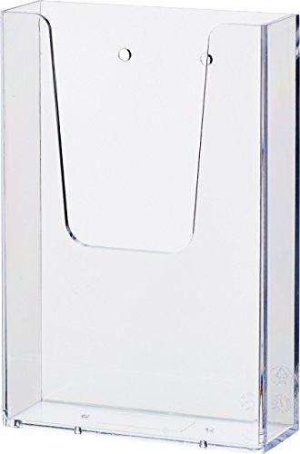 helit H2350002 the help wall Wandprospekthalter 1 x 1/3 A6, transparent, 1 Stück