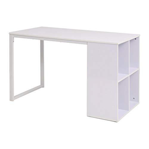 XINGLIEU Schreibtisch, 120 x 60 x 75 cm, leicht zu montieren, für Büro oder Arbeitszimmer, Weiß