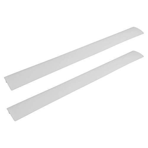 Kitchen Silicone Stove Counter Gap Cover - Flexible Easy Clean Heat Resistant Wide & Long Gap Cap Fillers, Seals Spills Between Appliances, Furniture, Stovetop, Oven, Washer & Dryer, Set of 2 (White)