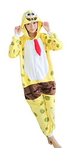 Dorliki Unisex Onesie Tier Kostüm Adult Pyjama Halloween Cosplay Loungewear Spongebob XL