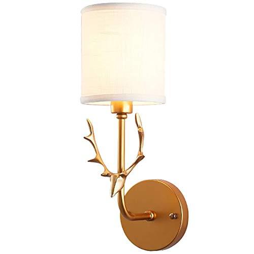 Y-H Led wandlamp armatuur, herten wandlamp, binnen muur Mount licht, badkamer Vanity Wall Light,modern nachtlampje goud 5 * 15inch
