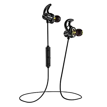 Phaiser BHS-790 Bluetooth Headphones with Dual Graphene Drivers and Bluetooth Sport Headset with Mic - Wireless Earbuds for Running - Sweatproof Blackout