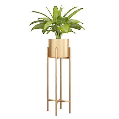 Metall Pflanzenständer Blumenständer Nordic Moderne Einfache Startseite Wohnzimmer Balkon Außenlandeanzeige Bonsai Regal-gold-large