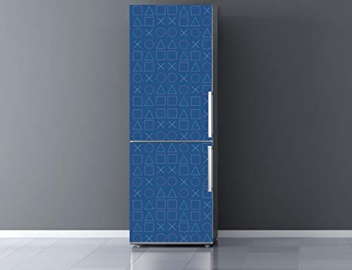 Oedim Vinilo para Frigorífico Gamer Fondo Azul 185x60cm | Adhesivo Resistente y Económico | Pegatina Adhesiva Decorativa de Diseño Elegante