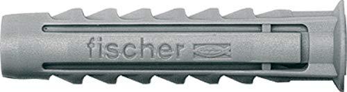 fischer SX 14 x 70 - Kraftvoller Spreizdübel mit 4-fach-Spreizung zum Befestigen von Bewegungsmeldern, Briefkästen in Voll- und Lochbaustoffen - 20 Stück - Art.-Nr. 70014