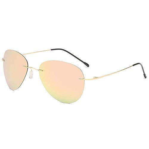 Gafas de sol Ink espejo masculino color gafas polarizadoras de noche y día y noche, gafas de sol de dos usos macho-polvo de cereza