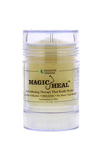 Magic Heal Foot Cream for Dry Cracked Heels, 2 Ounce-Intensive Organic Foot Cream with Natural Ingredients to Soothe & Moisturize Painful Dry Skin - Fast Results, No Mess Stick Applicator