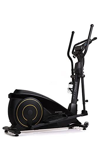 Zipro Bicicleta elíptica magnética para adultos, color dorado oscuro con consola iConsole hasta 120 kg, color negro, talla única