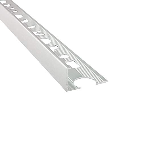 Alu L-Profil Fliesenschiene Fliesenprofil Schiene L270cm 10mm silber poliert
