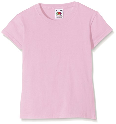 Fruit of the Loom Mädchen Valueweight T-Shirt, Rosa (Light Pink 52), Gr. 9-11 Jahre (140 cm)