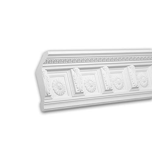 PRO[f]home® - Eckleiste 150281F Stuckleiste Flexible Leiste Zierleiste Zeitloses Klassisches Design weiß 2 m