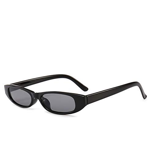 YOGER Gafas De Sol Nuevo Vintage Rectangle Sunglasses Mujeres Diseñador Gafas De Sol De Marco Pequeño Retro Negro Eyewear