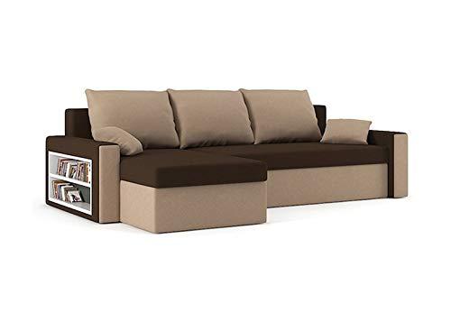 Sofini Ecksofa Drive mit Schlaffunktion! Best Ecksofa! Couch mit Bettkasten und Regalfächer! (Haiti 4+ Haiti 3)