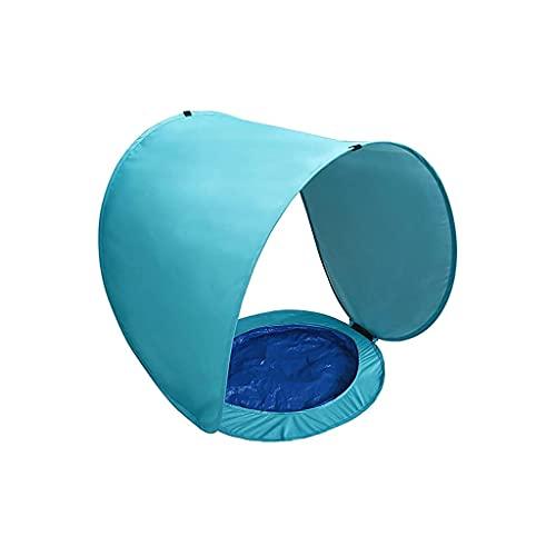Massager Tienda de la Piscina de Sombras Infantiles, Carpa de Playa, luz, Aroma para bebés con Piscina integrada, Protector Solar para bebés, para área al Aire Libre, jardín y Parque, Azul