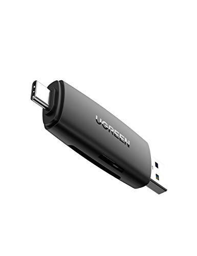 UGREEN USB C Kartenleser SD Micro SD USB 3.0 Adapter Card Reader für SD, SDHC, SDXC, Micro SD, Micro SDHC, Micro SDXC Typ C Karten Lesegerät für Samsung S20/A51, Huawei P30, Xiaomi 9, MacBook Pro usw