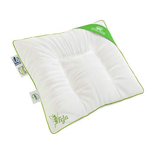 Feja by LELEKKA® 35x40 cm Premium Babykissen/Flachkissen mit BAMBUSfüllung & ALOE-VERA-Bezug für empfindliche Haut