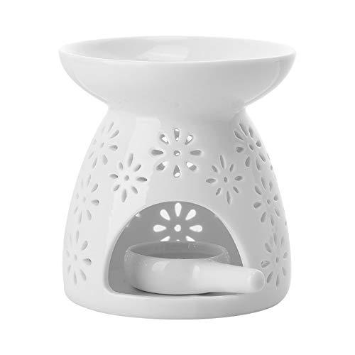 Richaa Ceramica Bruciatore di Oli Essenziali , Bruciatori di Aromi in Ceramica con Portacandele in Ceramica per Arredamento Camera da Letto di Casa