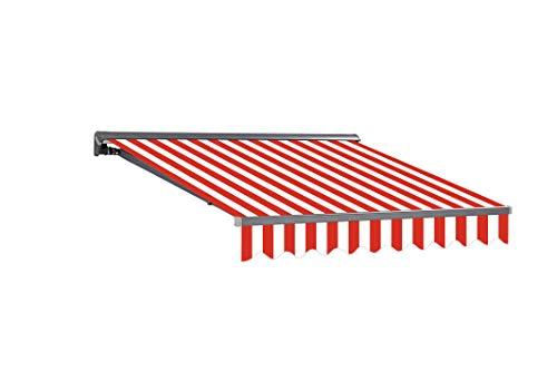 Markisen-Stoffe Zeltstoffe Sonnenschutz Markisentuch Markisenbespannung Ersatzstoffe Diverse Farben inkl. Volant fertig genäht (4x3m, SPD024)