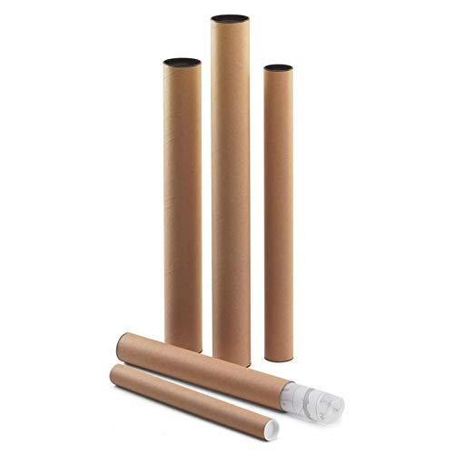 Tubo Portaplanos de Cartón y Tapa de Plástico | 46cm Ø 60mm