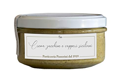 Pasticceria Passerini dal 1919 Crema ecológica de calabacín y alcaparras de Sicilia - 150 gr