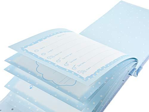 Mousehouse Gifts Baby jongens cadeau verpakt baby-dagboek herinneringsboek herinneringsboek dagboek boek boek album met schattige olifanten voor jongens - tekst in het Engels