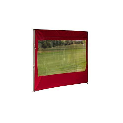 Carpa de jardín con panel lateral para viento y lluvia, accesorios de carpa para exteriores, impermeable a los rayos UV, tela Oxford, 3 x 3 m, rojo con / o sin ventanas