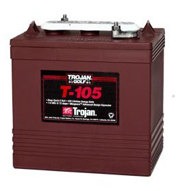 Trojan T-105 GC2 6V 225Ah Deep Cycle Flooded Lead Acid Battery