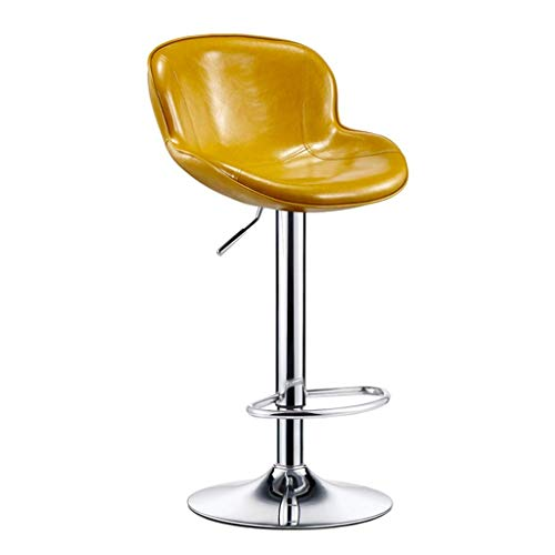 Barstool/verstelbare barstools, draaibaar, met 24 inch achterwand voor keuken en eetkamer, hoge stoelen met draaibaar bureau, stoelen van PU-leer Een