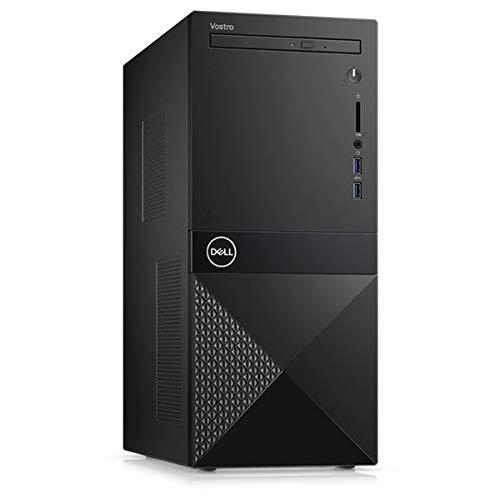 Dell Vostro 3671 Desktop Tower, Intel Core i3-9100, 4GB RAM, 1TB SATA, DVD-RW, Dell 3 YR WTY + EuroPC Warranty Assist, (Renewed)