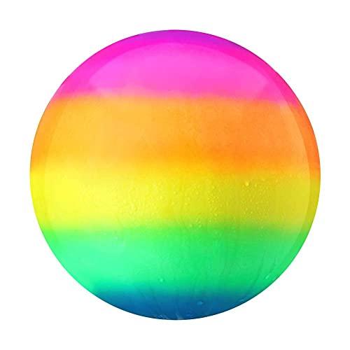 Yolluu Bola de juguete para piscina, juegos subacuáticos, accesorios de natación, bola inflable arco iris, pelota de piscina para pasar bajo el agua, para adolescentes, niños o adultos