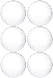 Goldenvalueable Smooth Foam Balls Craft Supplies, 4-Inch, White, 6-Pack