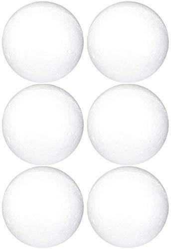 goldenvalueable bolas de poliestireno Craft Supplies, cm, blanco, 6-Pack