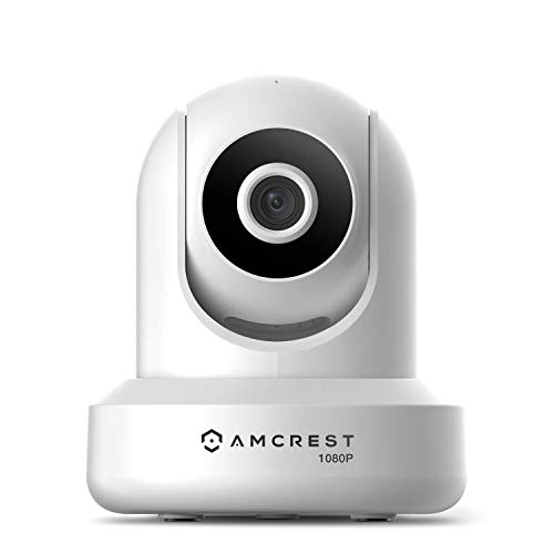 Amcrest 1080P WiFi Security Camera 2MP (1920TVL) IP Wireless Pan / Tilt per interni, sistema di videosorveglianza domestica, obiettivo 4mm, conversazione bidirezionale IP2M-841W-V3 (bianco)