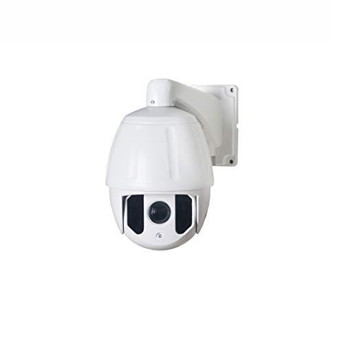 SUIWO Videocamere di sorveglianza 1080P HD wireless pan tilt esterna dell'interno IP Security Camera TVIAHDCVI telecamera di sorveglianza 30 volte (Colore : White)