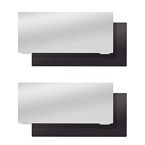 WZCXYX 2 Piezas De Placa De Resorte De Acero Fotopolimerizable Tamaño 135 X 80 Mm Placa De Membrana De Acero Electromagnético Flexible para Impresora 3D