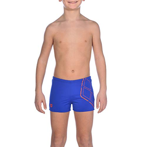 arena Jungen Badeshorts Essentials Badehose, neon blue-Nectarine, 152