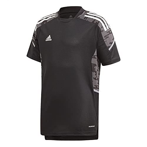 adidas, Condivo 21 Primeblue, Camiseta De Fútbol De Manga Corta, Blanco Negro, 1516, Unisex-Hijo
