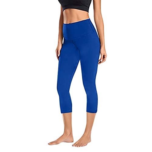 Dosoop Womens Stretch Yoga Running Capris Leggings Workout Active Pants Tummy Control High Waisted Sports Gym Fitness