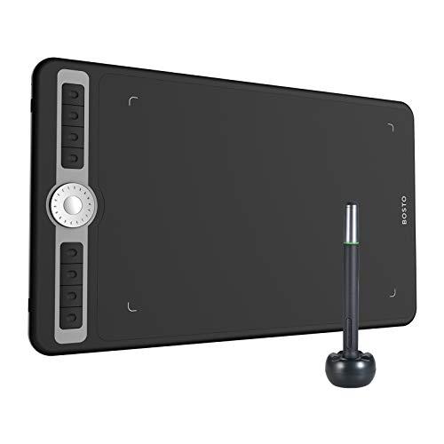 Aibecy T1060 Tableta de dibujo gráfico de arte digital de 10 x 6 pulgadas con lápiz óptico sin batería 10 puntas de lápiz 8192 niveles de presión 8 teclas rápidas Controlador de dial