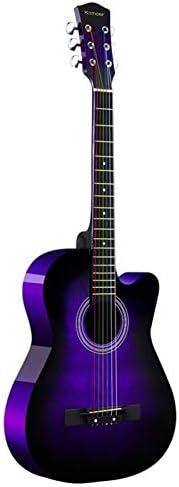 Boll ATur Purple Beginner Acoustic Guitar Full Size 38 Cutaway Guitar Bundle With Gig Bag Tuner product image