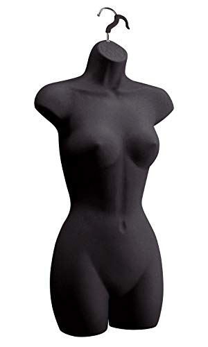 Female Molded Black Shapely Form with Hook - Fits Women's Sizes 5-10